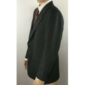 Hickey Freeman Men's Grey 2 Button Blazer